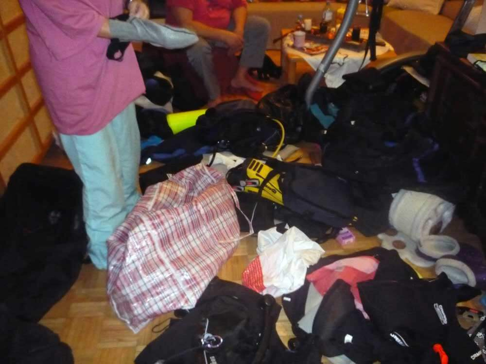 Packing our Diving gear - Packliste