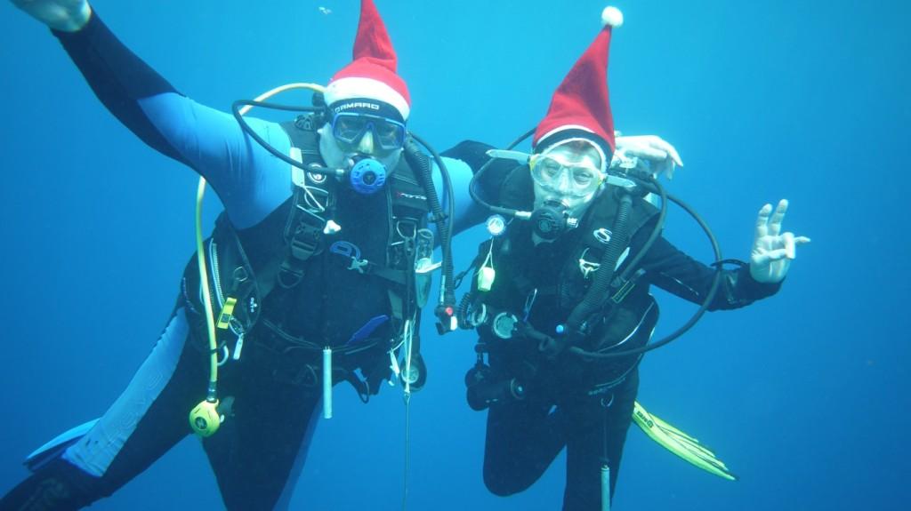Bild aufgenommen am 24. 12. 2013 in Nabucco Ilse und Gerhard  Mitglieder  der Divingfamily aus Österreich