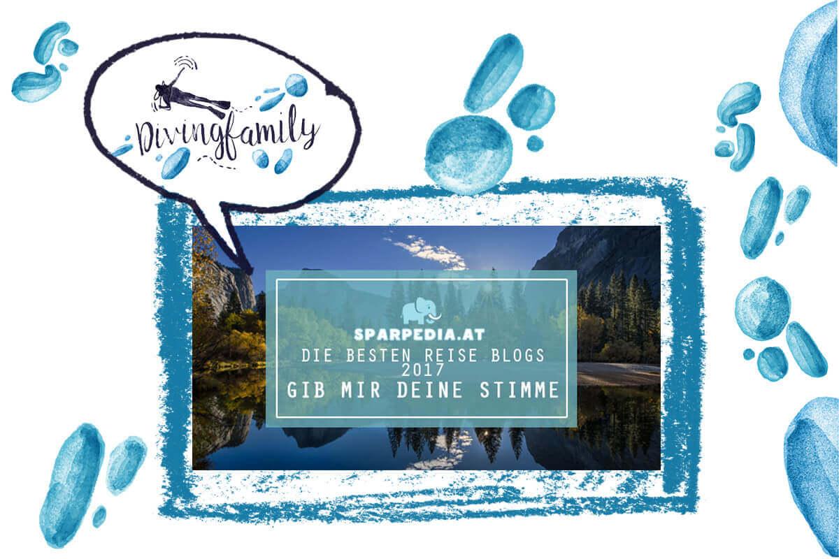 Sparpedia: Die besten ReiseBlogs 2017 - stimme für divingfamily.com